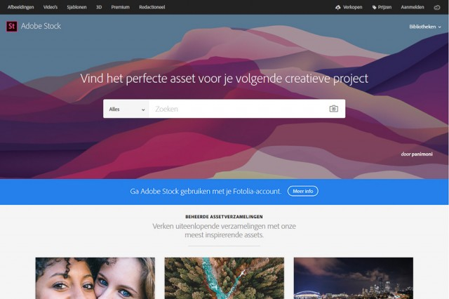 Homepage Adobe Stock